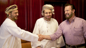 Gary with Sheikh Hamdan and his son Mr. Abdullah
