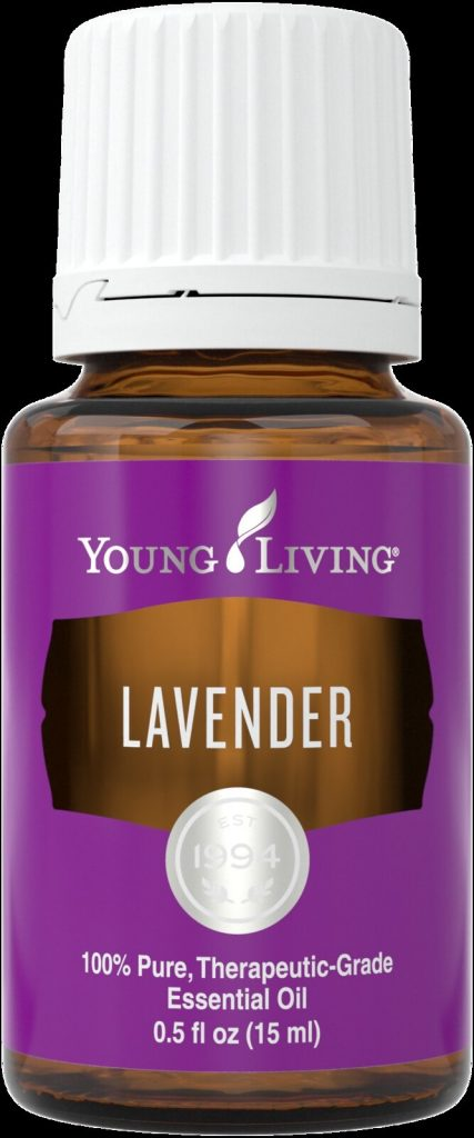 A bottle of Young Living's Lavender oil.