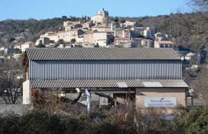 A view of Young Living's Simiane-la-Rotonde, France, distillery
