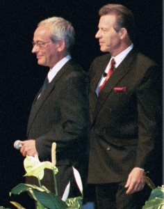 Gary Young and Jean-Noel Landel at 2002 Young Living convention
