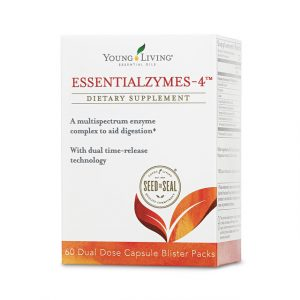 a box of Essentialzymes-4 enzyme supplements