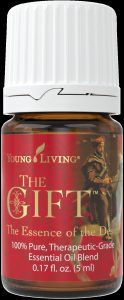 a bottle of Young Living The Gift essential oil blend