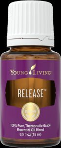 a bottle of Young Living's Release blend