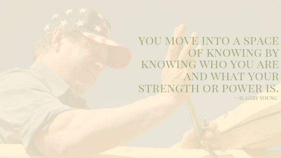 "Words: ""You move into a space of knowing..."""