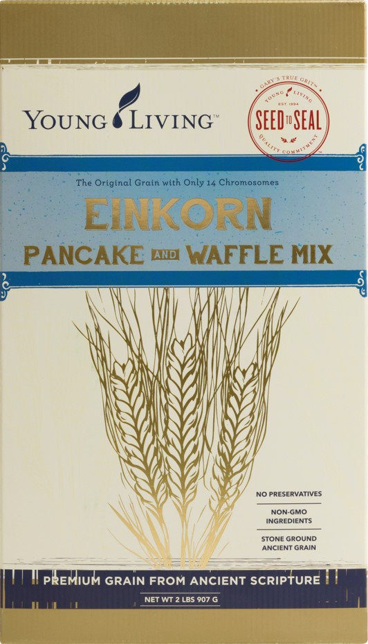 Instead of overeating when you have pancakes or waffles, try Gary's True Grit Einkorn Pancake and Waffle Mix and have some real nutrition that satisfies you!