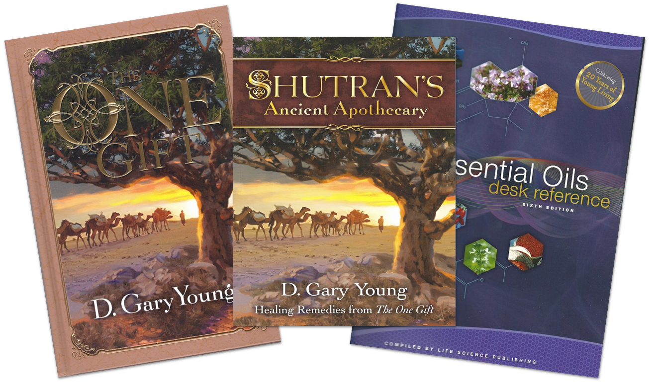 Gary wrote The One Gift and Shutran's Ancient Apothecary about the ancient Frankincense Trail. The Essential Oil Desk Reference also has great information about frankincense.
