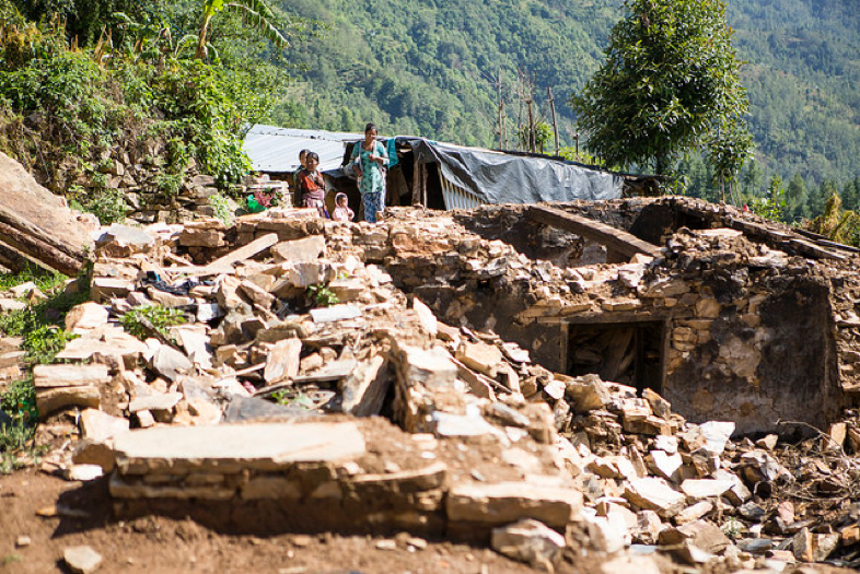 Homes built of rock were shaken into rubble by the devastating earthquakes in Nepal.