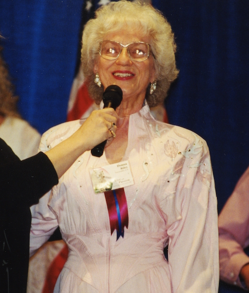 Donna Riley at the 1999 Convention in Salt Lake City, Utah.