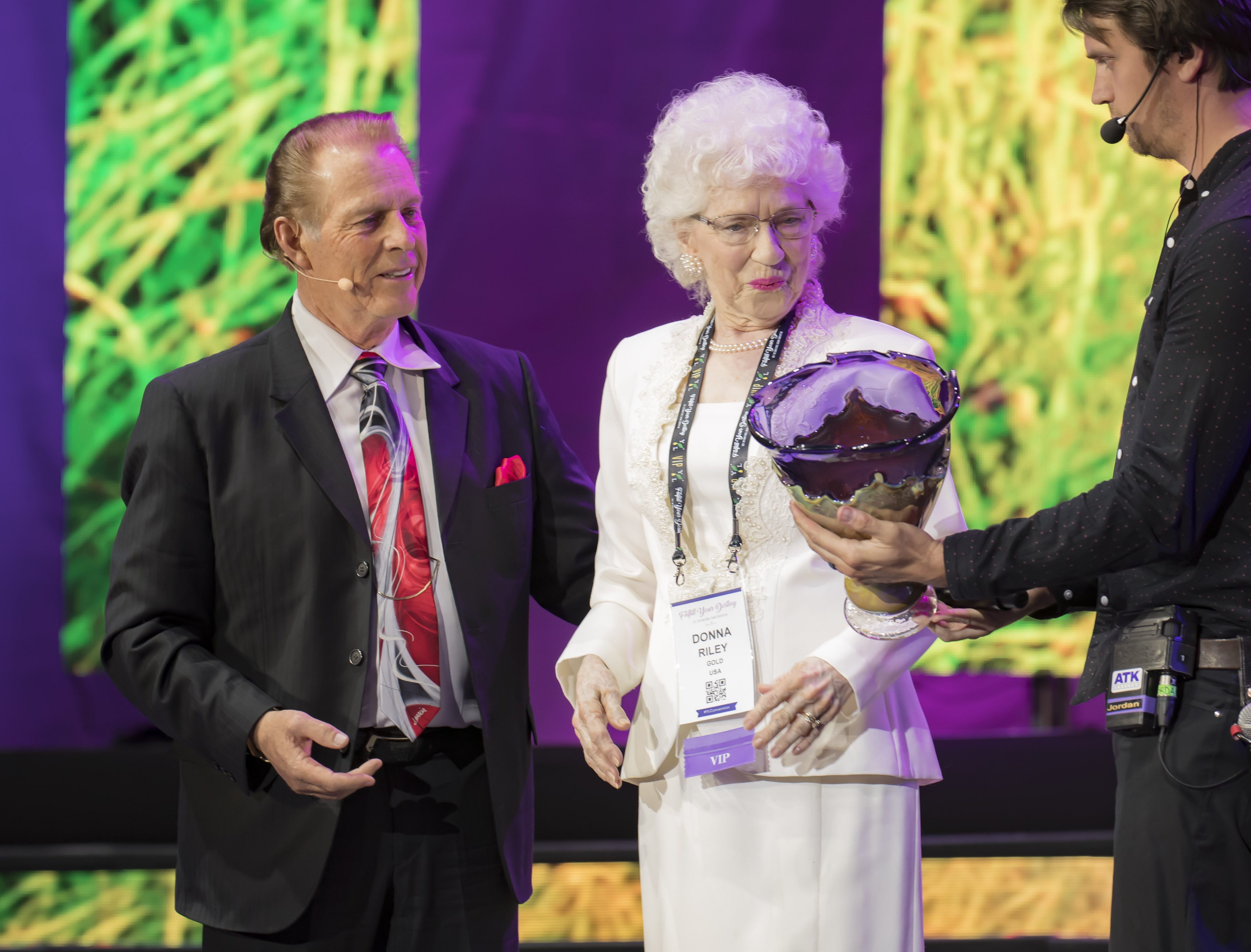Donna Riley presented with the Spirit of Young Living award.