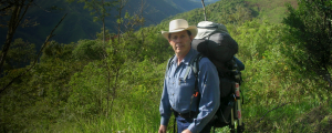Don Gary Young with backpack