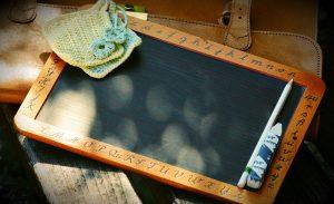 an old slate chalkboard, individually-sized