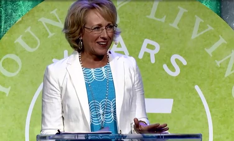 Dannette Goodyear, speaking at Young Living's 2019 International Grand Convention