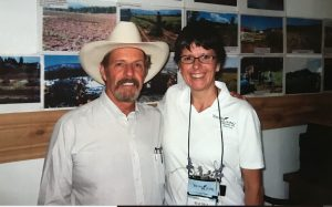 Gary Young with member Beatriz G.